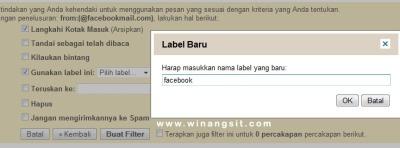 gmail filter4 Membuat Filter Email masuk ke folder secara Otomatis di gmail